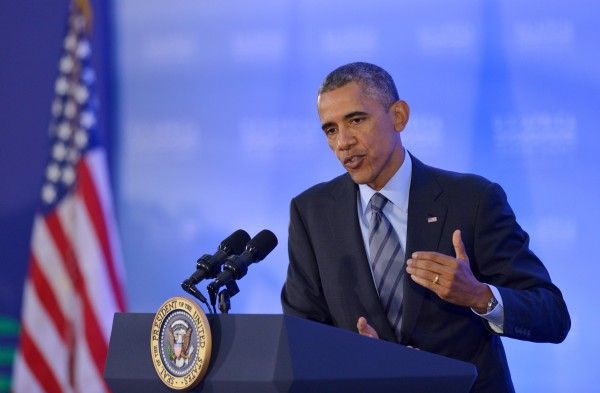 """""""We'll join with six countries that in recent years have demonstrated a track record as peacekeepers,"""" Obama said [Xinhua]"""