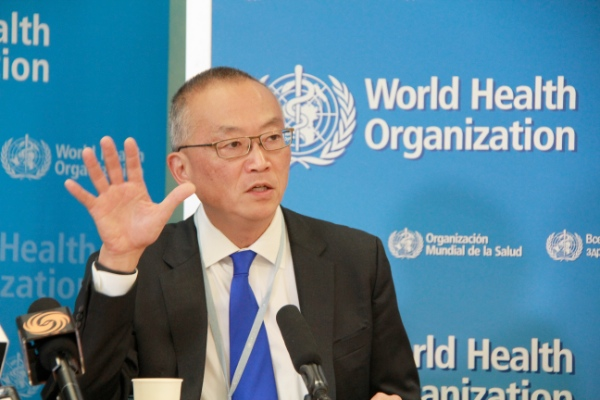 Keiji Fukuda, assistant director-general for health security of the World Health Organization (WHO), speaks during a press conference at the WHO headquarters in Geneva, Switzerland, Aug. 8, 2014 [Xinhua]