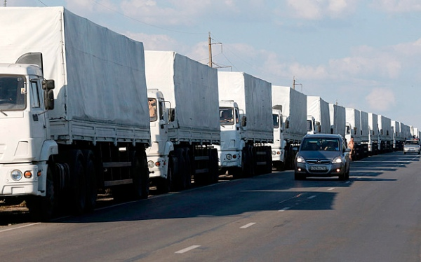 Russian President Vladimir Putin in a phone call with German Chancellor Angela Merkel said Moscow was no longer prepared to tolerate any delays and the aid convoy was starting to move towards the city of Luhansk [Ria Novosti]