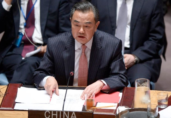 Chinese Foreign Minister Wang Yi attends a UN Security Council summit on terrorism in New York, Sept. 24, 2014 [Xinhua]