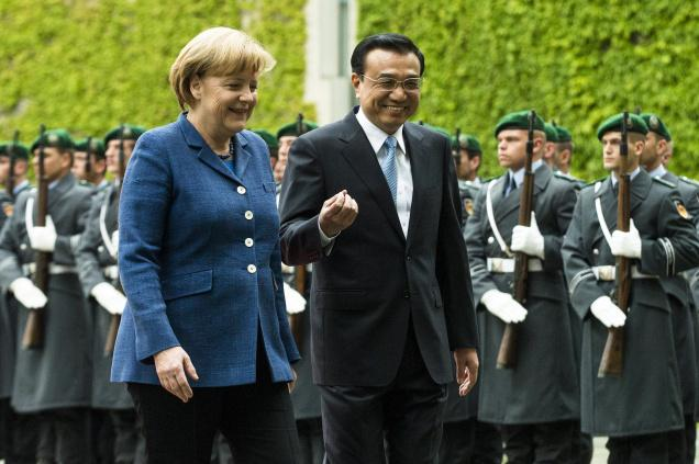 A struggling euro zone economy has intensified the pressure on the German government to look towards Asian markets like China [AP]