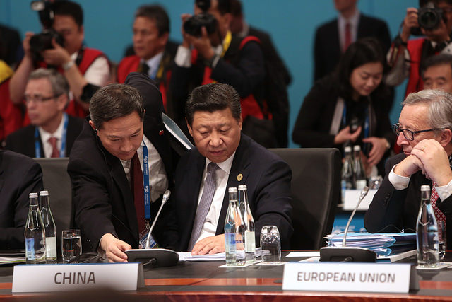 Chinese President Xi Jinping at Session one of the G20 Leaders' Summit in Brisbane on 15 November 2014 [G20, Australia]