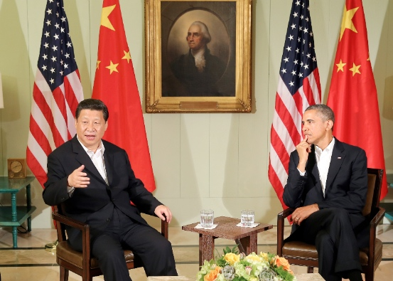 """""""We're organising trade relations with countries other than China so that China starts feeling more pressure about meeting basic international standards,"""" Obama said referring to the TPP in a presidential debate in 2012 [Xinhua]"""