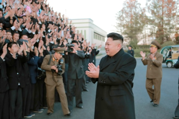 The leader of the Democratic People's Republic of Korea (DPRK) Kim Jong Un (front) has vowed to speed up the nuclear and ballistic missile programs [Xinhua]