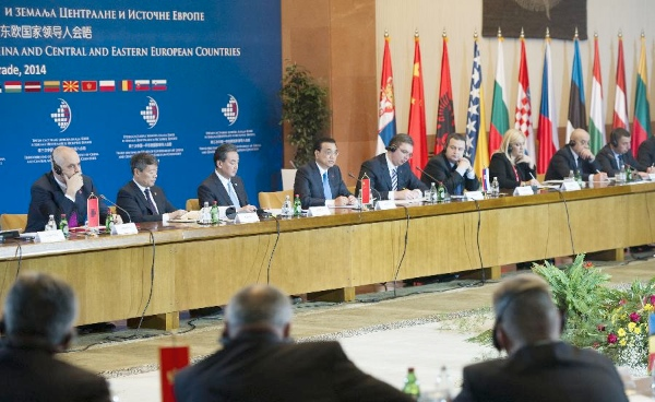 Chinese Premier Li Keqiang (4th L) attends the third China-Central and Eastern European (CEE) Leaders' Meeting in Belgrade, Serbia, on Dec. 16, 2014 [Xinhua]