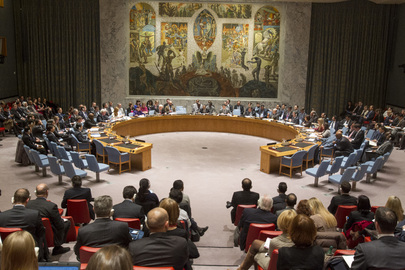 The Security Council met to discuss the situation in the Democratic People's Republic of Korea (DPRK). At the outset, the Council took a vote to adopt the provisional agenda for the meeting, the result of which was 11 for, 2 against (China and Russian Federation) and 2 abstentions (Chad and Nigeria) [Image: UN]