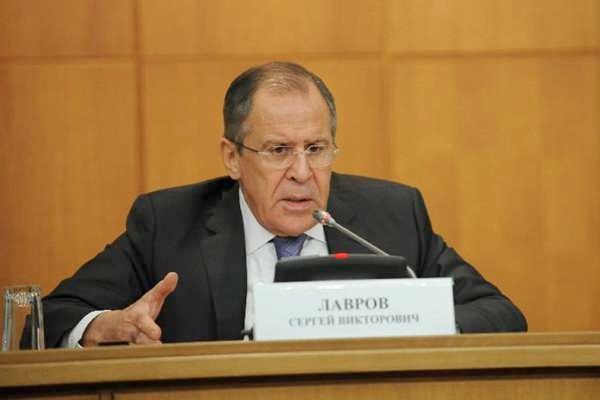 Russian Foreign Minister Sergei Lavrov speaks during a press conference in Moscow, Russia, Jan. 21, 2015 [Xinhua]