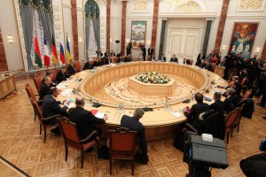 Russian and Ukrainian officials have said the talks were long and hard, but voiced the final February 12 ceasefire deal is a first step toward lasting peace [Xinhua]