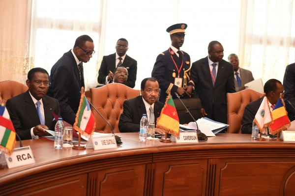 Cameroonian President Paul Biya, center, and other African leaders are receiving military assistance to combat Boko Haram [Xinhua]