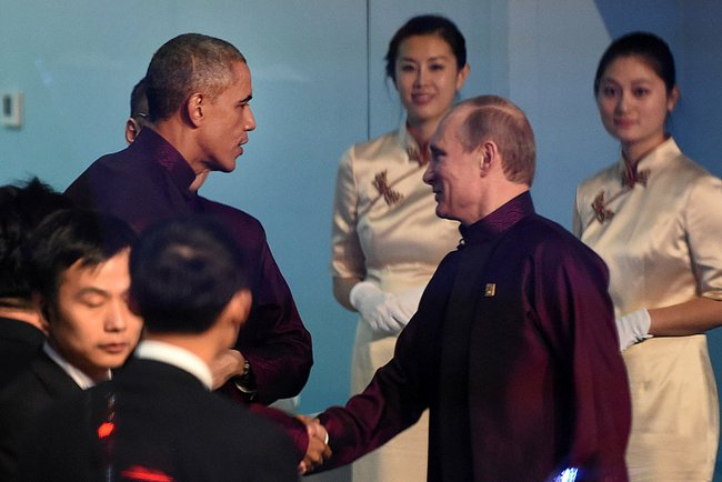 File Photo:  US President Barack Obama with his Russian counterpart Vladimir Putin [PPIO]