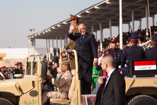Al-Abadi, seen here during the 94th anniversary of the creation of the Iraqi army, is now determined to liberate Mosul in the north [Xinhua]