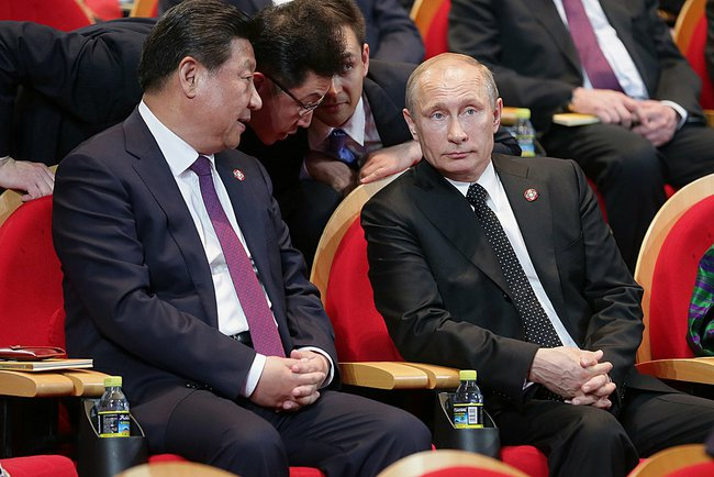 File photo: Russian President Vladimir Putin with his Chinese counterpart Xi Jinping [PPIO]