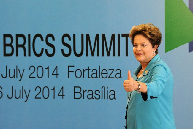 President of Brazil Dilma Rousseff at the 6th BRICS Summit in the Brazilian city of Fortaleza on 15 July 2014 [PPIO]
