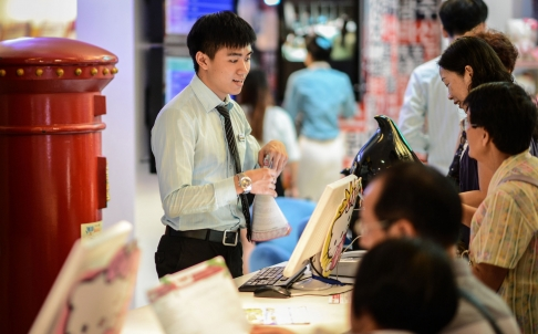 The services sector accounts for almost half of the economy and is the biggest employer in China [Xinhua]