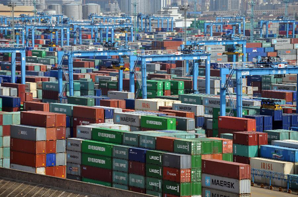 File photo: Containers at the harbor of Ningbo, east China's Zhejiang Province [Xinhua]
