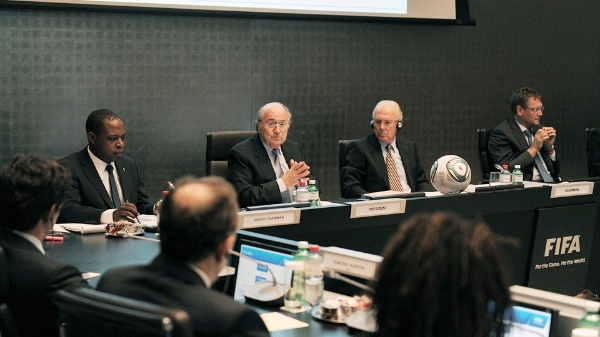File photo: FIFA President Sepp Blatter (3rd from right) [Image: FIFA]
