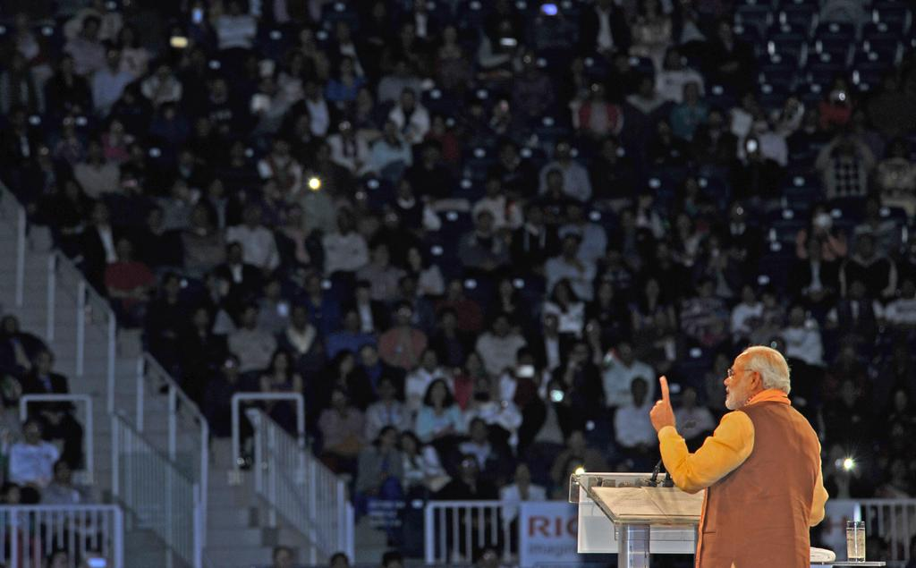 Indian Prime Minister Narendra Modi speaking at the Indian Community Programme in Toronto, Canada in April 2015 [Image: PMO, India]