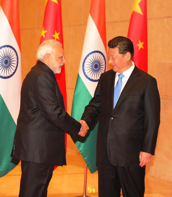 Chinese President Xi Jinping and Indian Prime Minister Narendra Modi in Xi'an, China on 14 May 2015 [Image: PMO, India]