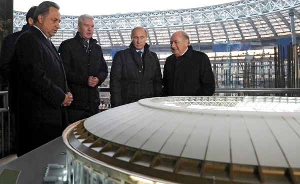 File photo of FIFA chief Sepp Blatter (right) with Russian President Vladimir Putin [PPIO]