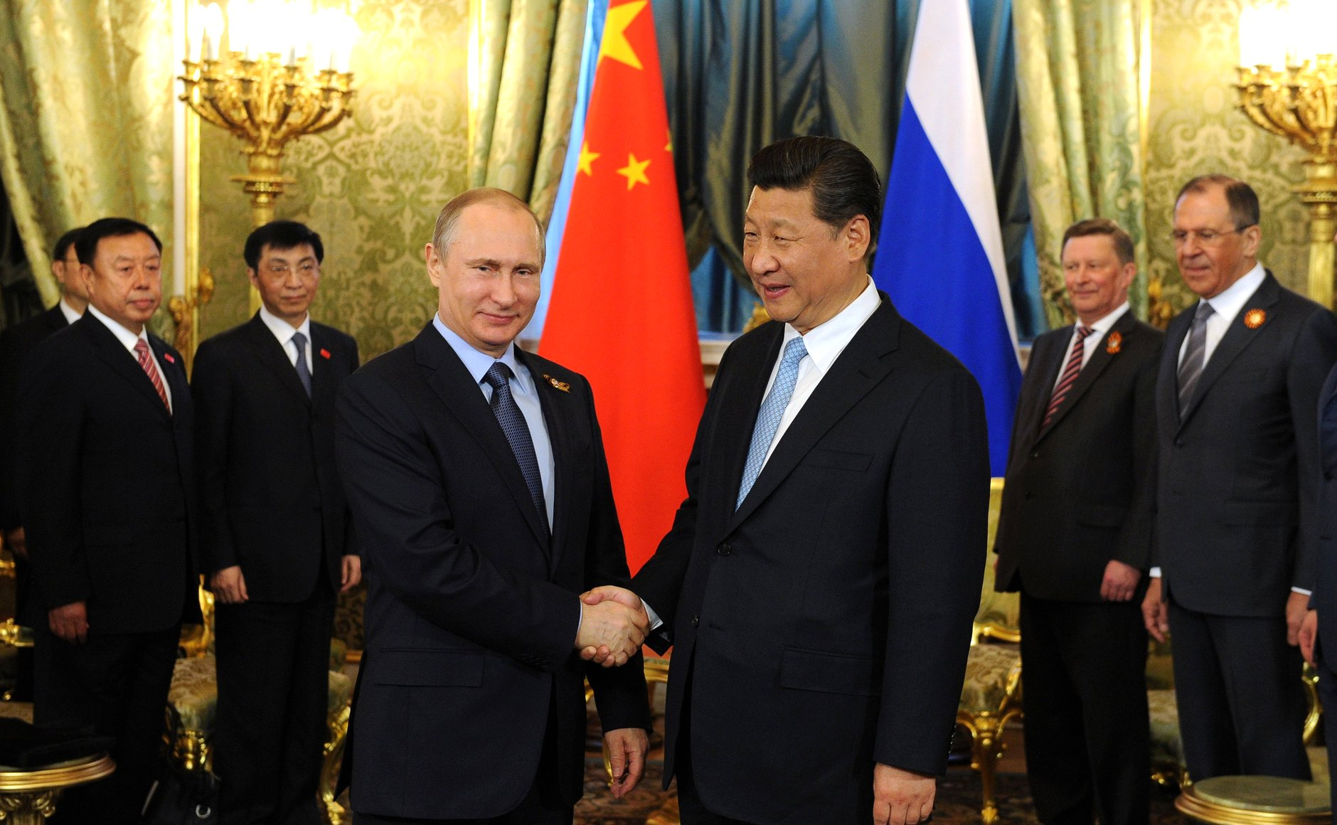 Chinese President Xi Jinping and his Russian counterpart, Vladimir Putin held talks in Moscow on 8 May 2015 [PPIO]