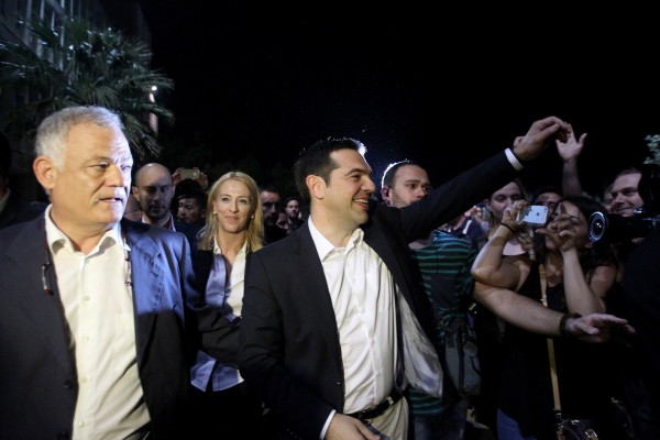 Greek PM Alexis Tsipras, center, was once the darling of anti-austerity activists but may now face a no confidence vote [Xinhua]