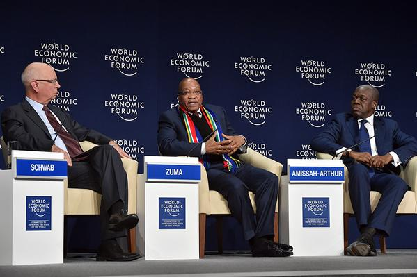 South African President Jacob Zuma at the WEF Africa, at Cape Town, South Africa on 4th June 2015