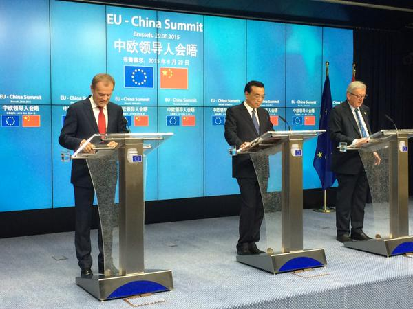 Earlier on Monday, Li attended the China-EU Summit where he promised to invest in the bloc's new infrastructure fund [Xinhua]