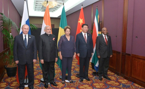 BRICS heads of state and government: Vladimir Putin, Prime Minister of India Narendra Modi, President of Brazil Dilma Rouseff, President of the People's Republic of China Xi Jinping and President of South Africa Jacob Zuma met on the sidelines of the G20 Summit in Brisbane, Australia on 15 November 2014 [Xinhua]