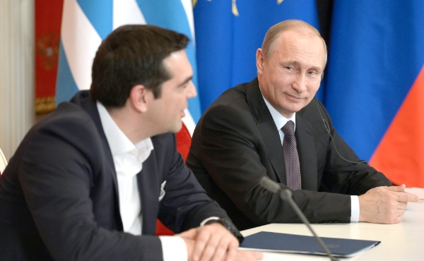 "Greek Premier Alexis Tsipras, who spoke after Putin at the forum on Friday, criticized the EU for believing that it ""was the center of the world"" [PPIO]"