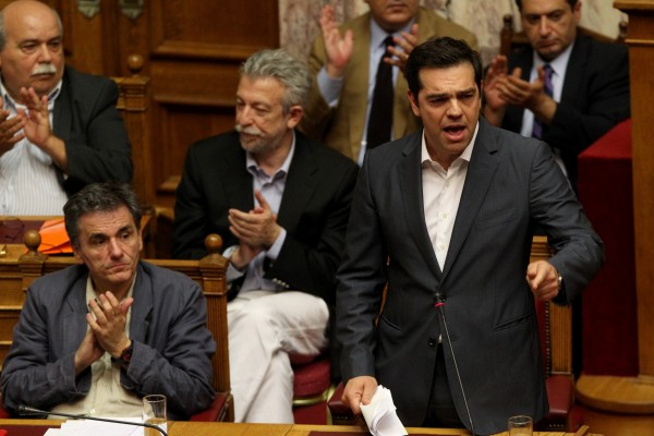 An embattled Tsipras managed to persuade the Greek parliament to agree to the latest bailout measures but saw some 30 revolt from his own party, sparking a snap September 20 election [Xinhua]