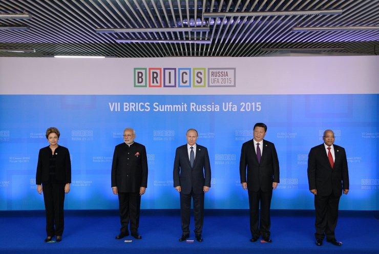 BRICS leaders at the 7th BRICS Summit in Ufa, Russia on 9 July 2015 [PPIO]
