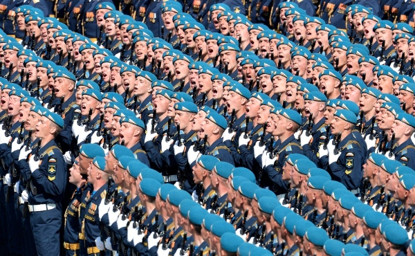 Russian soldiers march at  the Victory Day Parade on May 9th 2015 in Moscow, Russia [PPIO]