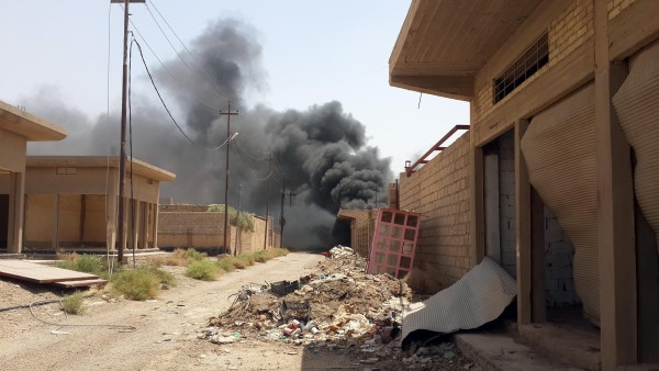 US-led coalition fighter jets - including the Iraqi Air Force - have been pounding ISIL positions such as this one in Fallujah, Iraq. But human rights organizations say they are concerned at the number of civilian casualties in such operations [Xinhua]