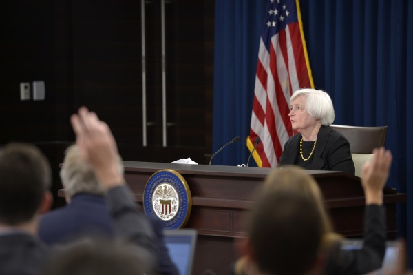 Federal Reserve chief explained that the federal funds rate will stay unchanged considering the weak global economy and low inflation [Xinhua]