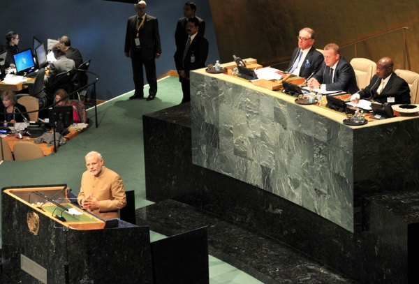 Indian Prime Minister Narendra Modi at the UNGA in New York on 25th September 2015 [Image: UN]