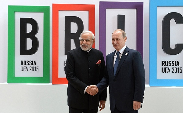 """There are those who think something, but say something else. This I have not experienced with President Putin,"" Modi said during his visit to Moscow in December 2015 [Xinhua]"