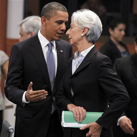 File Photo: US President Barack Obama with IMF chief Christine Lagarde [Image: Archives]