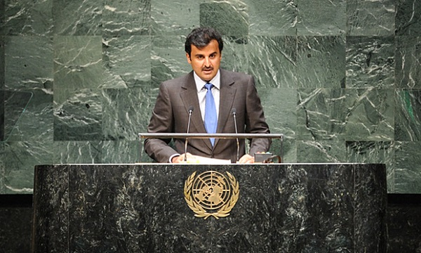 File photo: The Emir of Qatar, Sheikh Tamim bin Hamad Al Thani at the UN General Assembly [Xinhua]