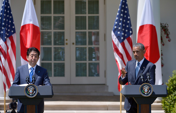 """Without this agreement, competitors that don't share our values, like China, will write the rules of the global economy,"" Obama said about the TPP last year [Xinhua]"