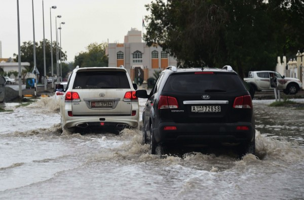 Unprecedented heavy rain fell on the UAE last March causing flash floods in many cities such as Abu Dhabi [Xinhua]