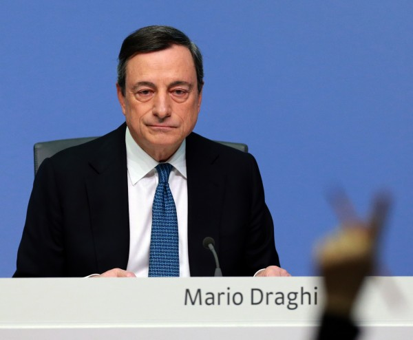 Draghi told a packed press conference today that the ECB will not cut interest rates further down the line [Xinhua]