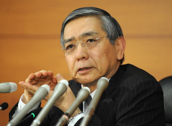 BOJ Governor Haruhiko Kuroda stunned markets when it was announced there would be no expansion of Tokyo's stimulus program [Xinhua]