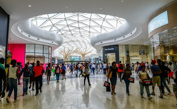 File photo:  The Mall of Africa in Midrand, near Johannesburg, South Africa [Xinhua]