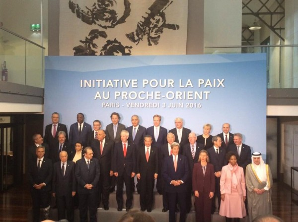 Foreign Ministers and top diplomats from over 20 countries attended the International Meeting on the Settlement of the Palestinian-Israeli Conflict in Paris on 3 June 2016 [Image: French Foreign Ministry]