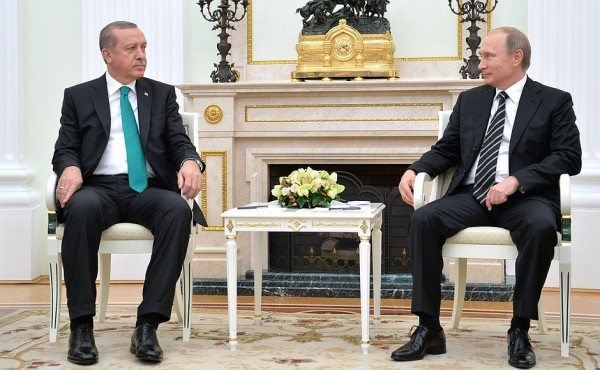 Putin held talks at the Kremlin with President of Turkey Recep Tayyip Erdogan in Moscow on 23 September 2015 [Image: PPIO]
