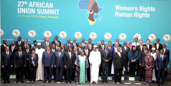 Familly photo: Opening Session of the 27th Ordinary Session of the Assembly of the AU in Kigali, Rwanda [Image: African Union]