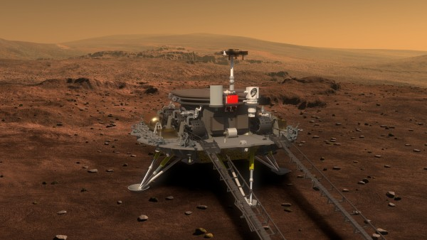Concept artist's depiction of the red planet where China's Mars rover will land [Xinhua]