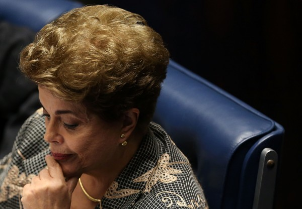 Rousseff contemplates her fate as she attends her impeachment trial on August 29 [Xinhua]