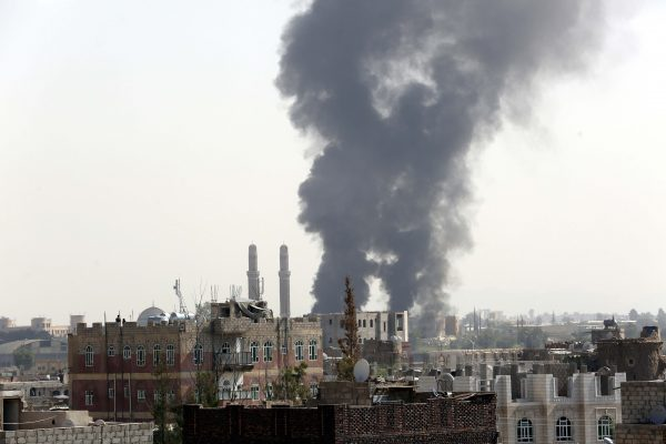 Saudi air raids have hit Houthi positions but also destroyed civilian infrastructure such as hospitals in Sanaa [Xinhua]