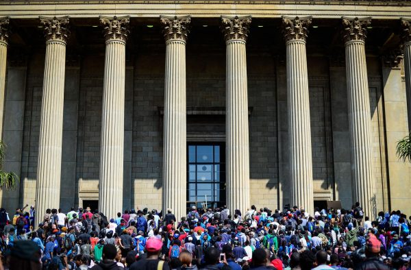 Protests at at the main campus of the University of Witwatersrand (Wits), in Johannesburg [Xinhua]